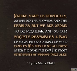 Nature made us individuals