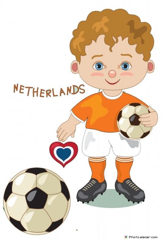 Netherlands National Jersey, Cartoon Soccer Player