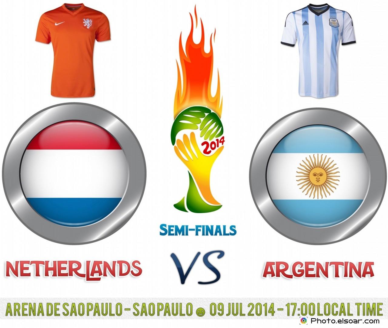 Netherlands Vs Argentina Semi-finals Match - World Cup 2014 - Arena de Sao Paulo - Sao Paulo || 09 Jul 2014 - 17:00 Local time