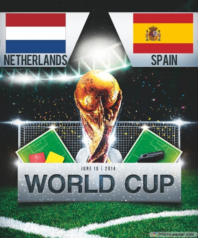 Netherlands vs Spain - World Cup 2014 - 16:00 Local time - GROUP B - Arena Fonte Nova - Salvador