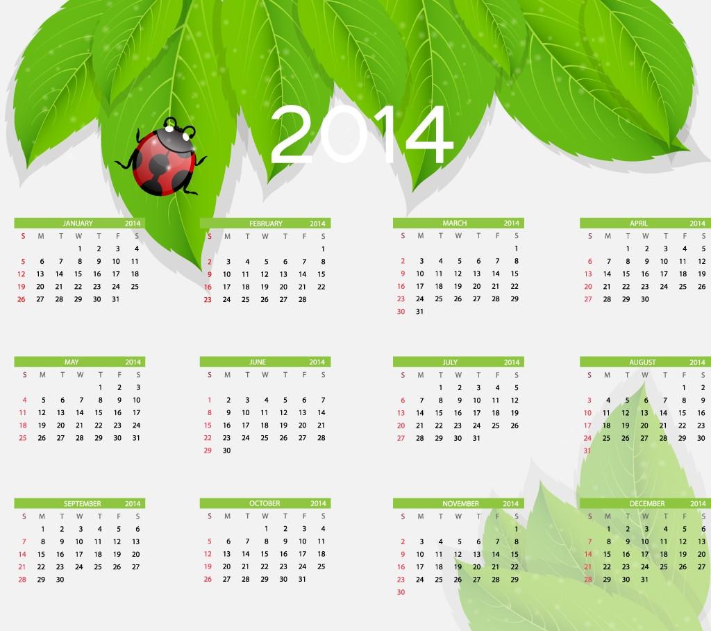 Free 2014 Word Calendar - Blank and Printable Calendar