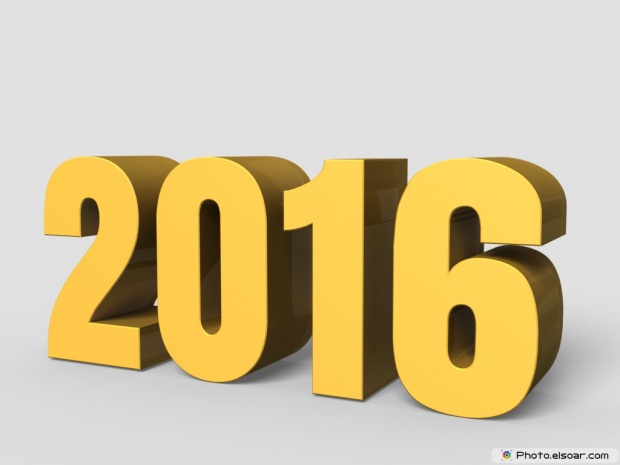 New Year 2016 3D Image+Wallpaper