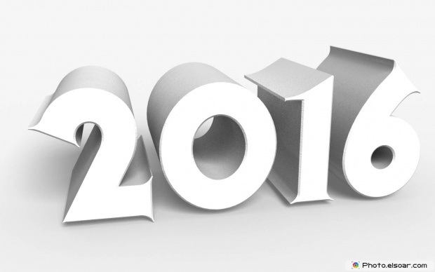 New Year 3D Text Message 2016