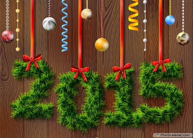 New Year Card 2015 Of Grass
