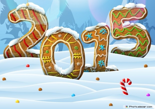 New Year Card 2015 On The Snow