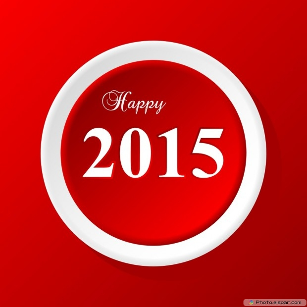 New Year's Day 2015 Greeting Image