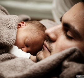 NewBorn Baby with the Father