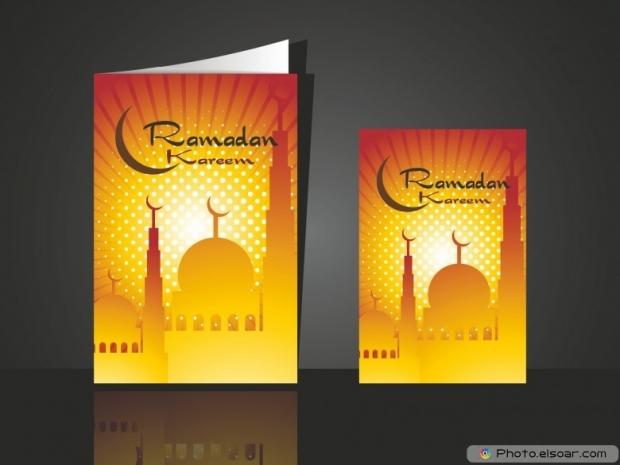 Nice greeting card for ramadan mubarak