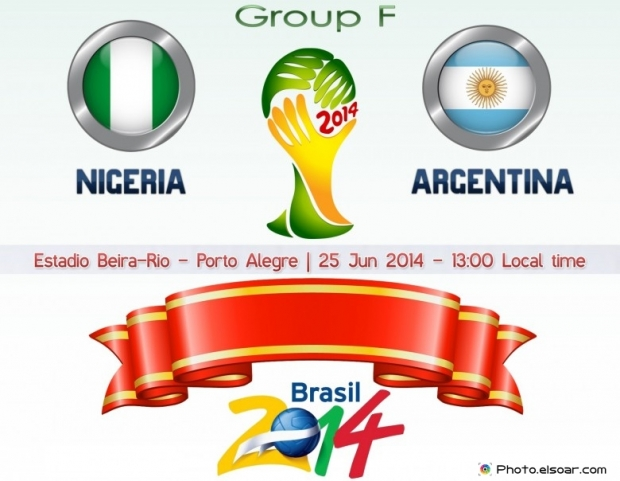 Nigeria Vs Argentina - World Cup 2014 - 25 Jun 2014 - 13:00 Local time - GROUP F - Estadio Beira-Rio - Porto Alegre