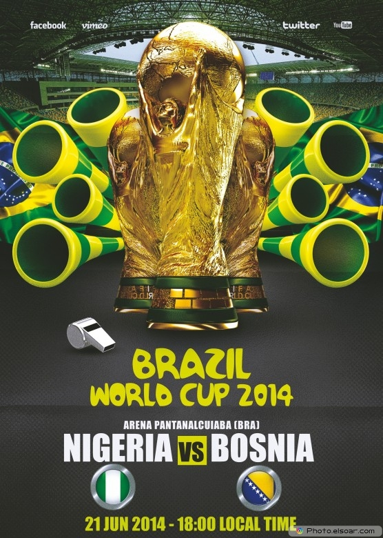 Nigeria vs Bosnia and Herzegovina - World Cup 2014 - 21 Jun 2014 - 18:00 Local time - Group F - Arena Pantanal - Cuiaba