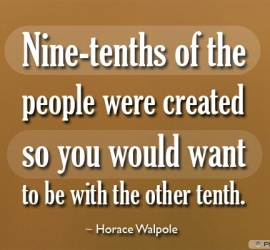 Nine-tenths of the people
