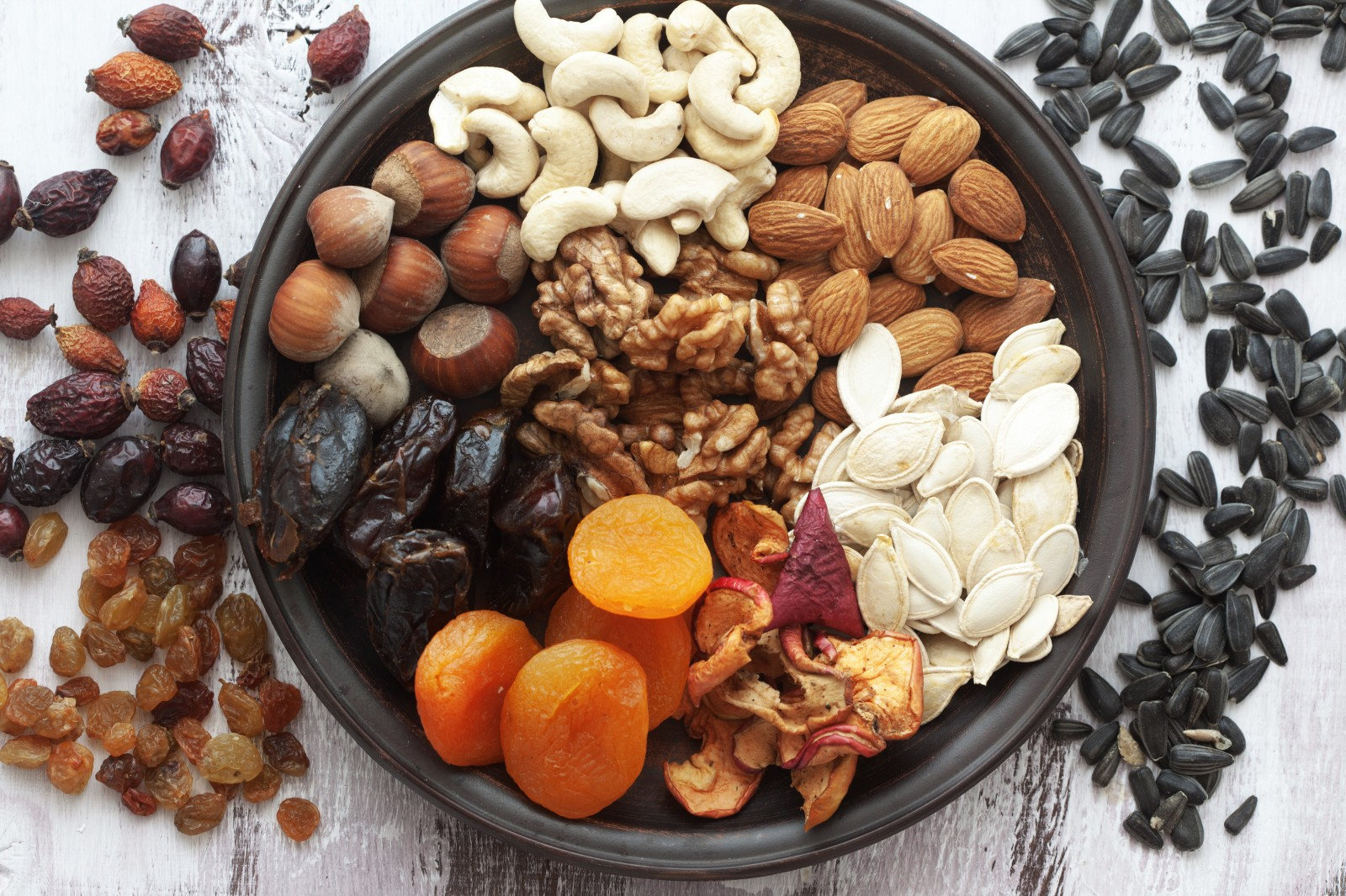 Dry fruits wallpaper - Nuts And Dried Fruits