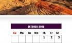 October 2015 Calendar Design