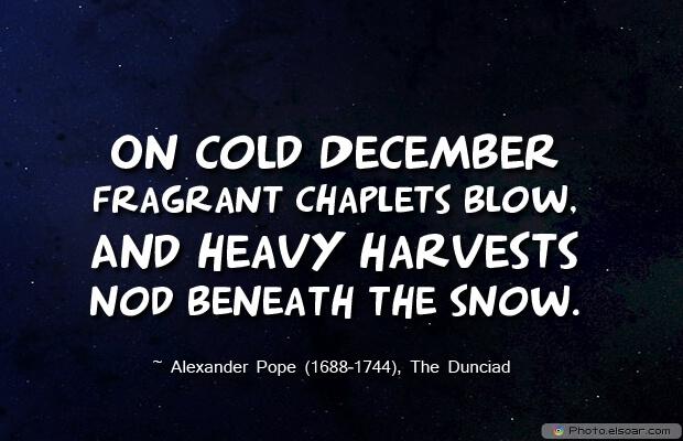 On cold December fragrant