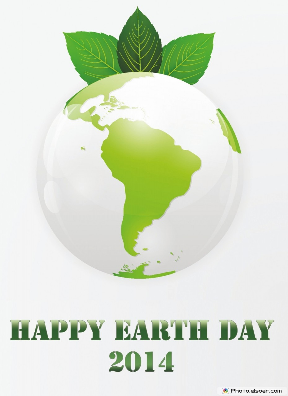 Organic. Happy Earth day 2014 with Green eco planet