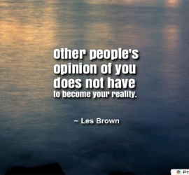 Other people's opinion