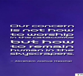 Our concern is not how to worship
