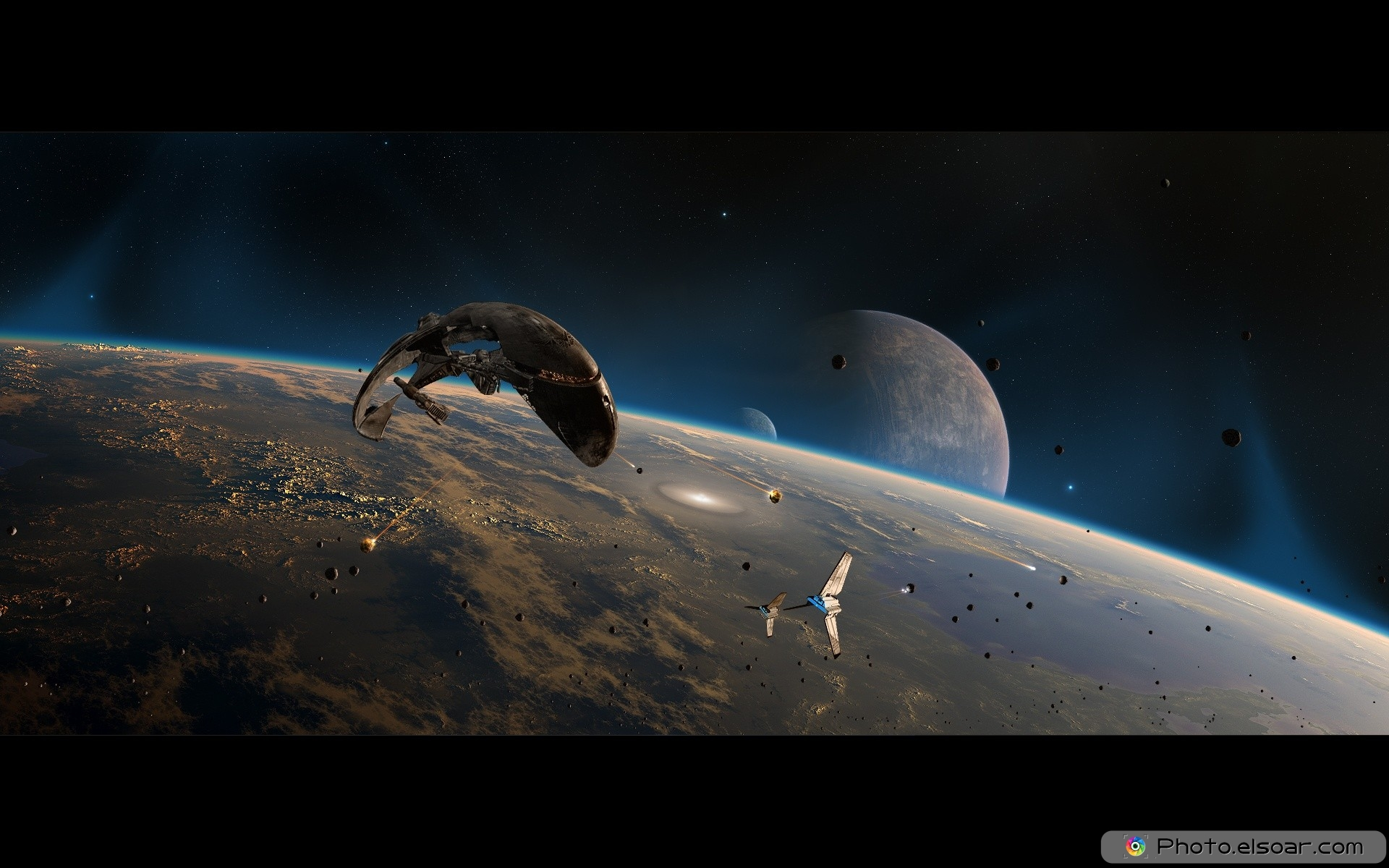 outer space free hd desktop wallpaper