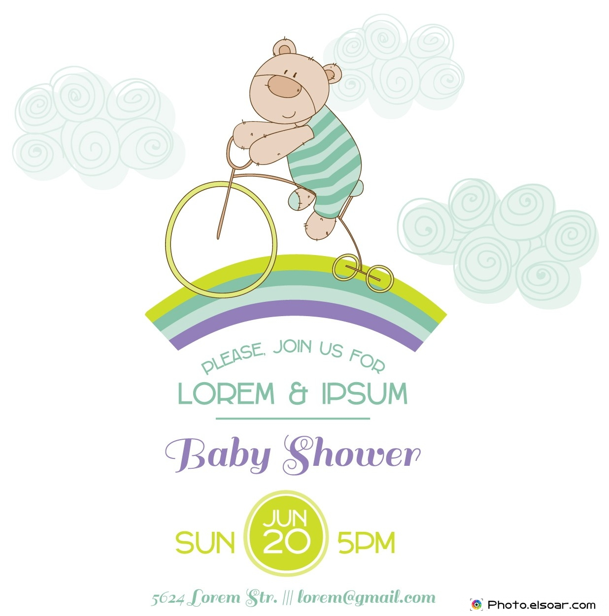 Please, Join us for Lorem , Ipsum. Baby Shower