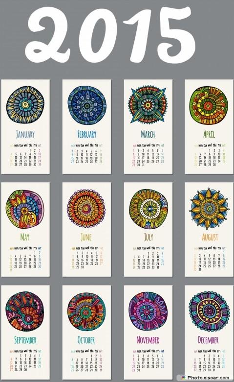 Printable Design For Calendar 2015.