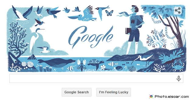 Rachel Louise Carson's 107th Birthday - Google Doodle 27 May 2014