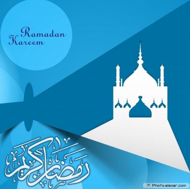 Ramadan Kareem with a beautiful white mosque