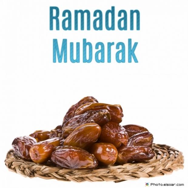 Ramadan Mubarak with Fresh dates
