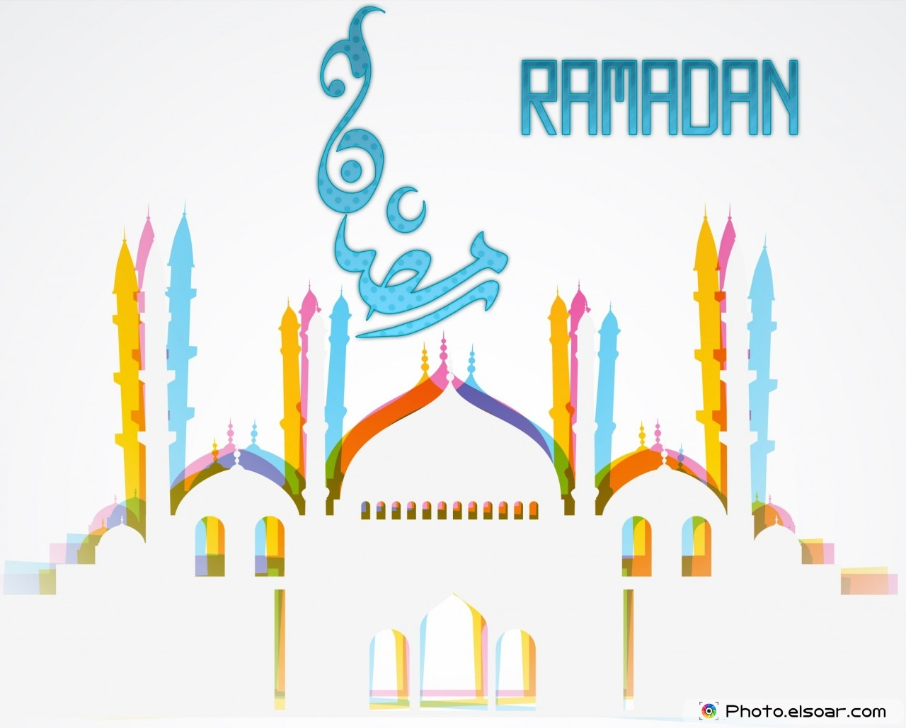 Ramadan Wallpaper with white mosque