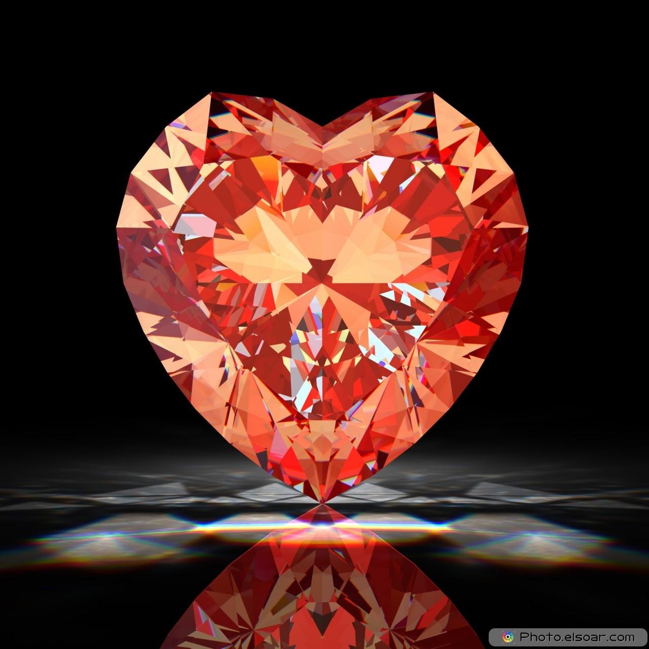 Red diamond heart
