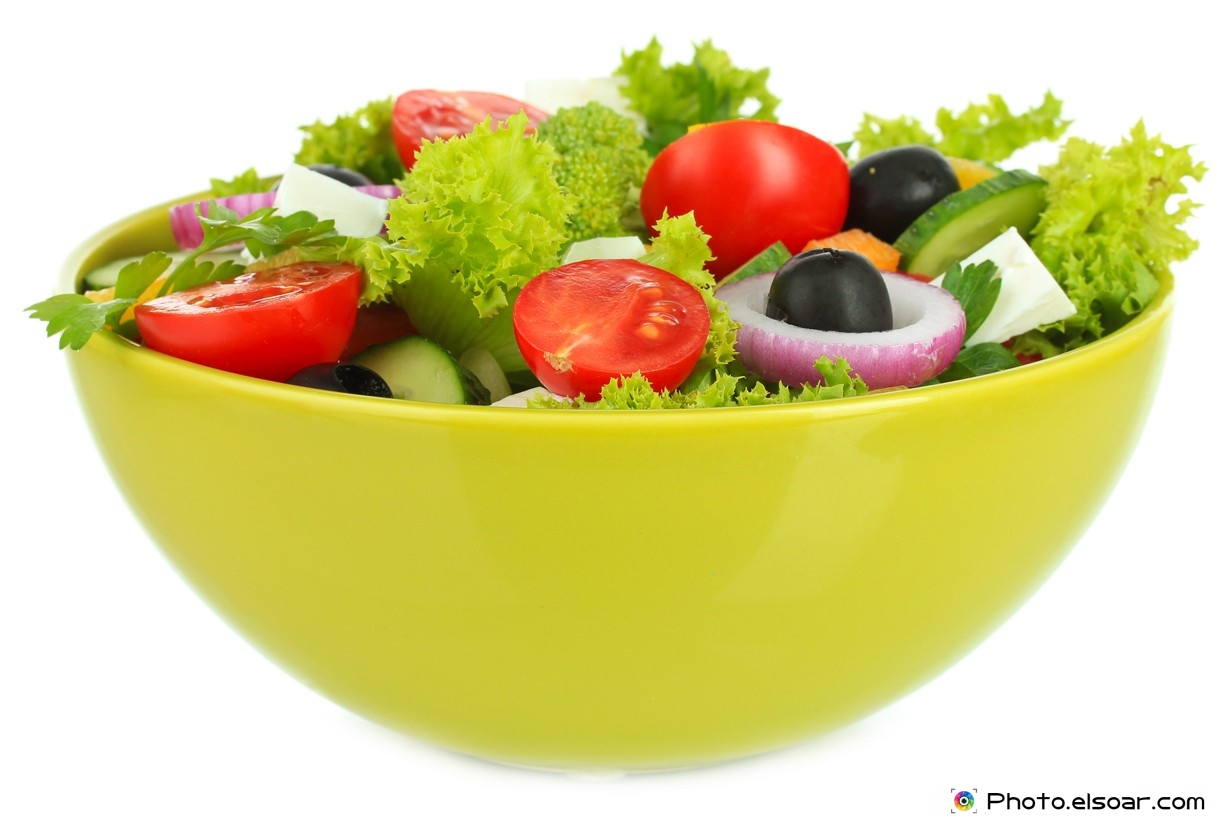 Salad in a Plastic Bowl