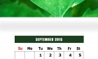 September 2015 Calendar Design