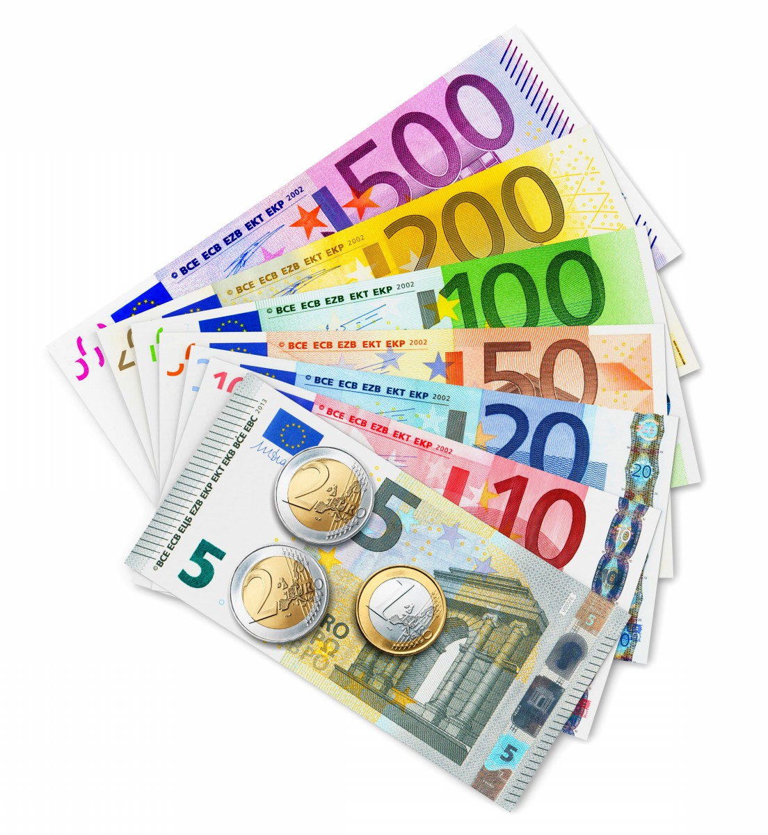 Image result for Euro banknotes