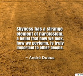 Shyness has a strange element