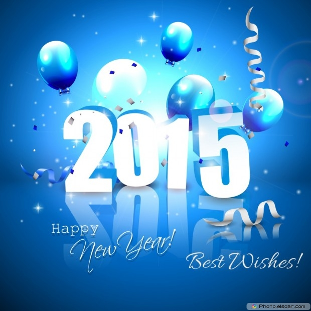 Silver 2015 Happy New Year With Best Wishes