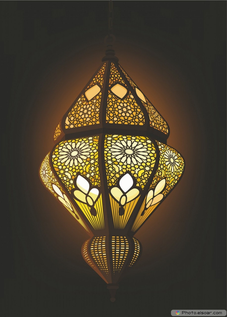 Stylish Arabic Lantern Ideal for Ramadan concept