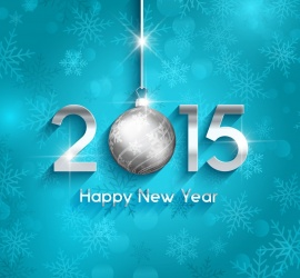 Stylish Full HD Wallpaper For New Year 2015