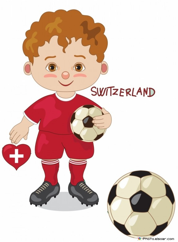 Switzerland National Jersey, Cartoon Soccer Player