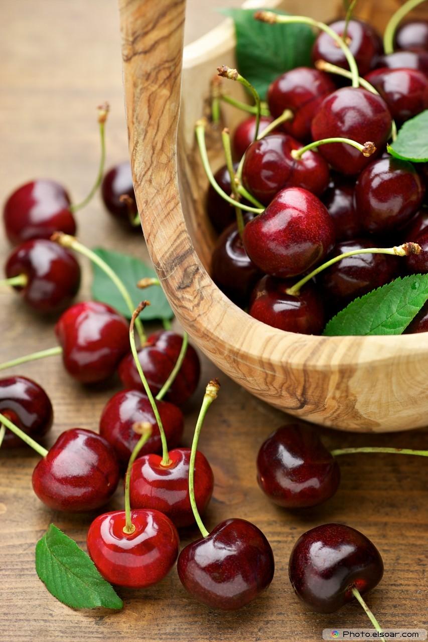 Tasty Cherry On Basket