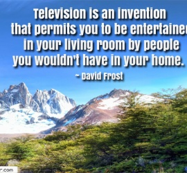 Television is an invention that permits