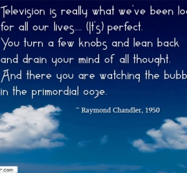 Television is really what we've been looking