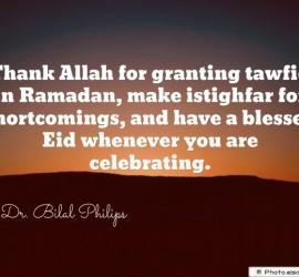 Thank Allah for granting tawfiq in Ramadan