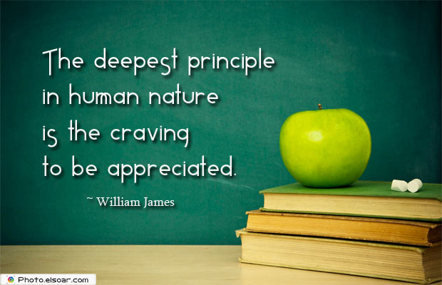 The deepest principle in human nature