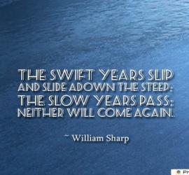 The swift years slip and slide