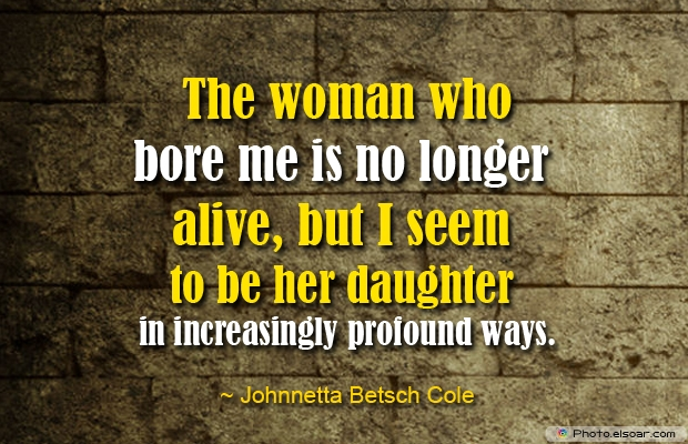 The woman who bore