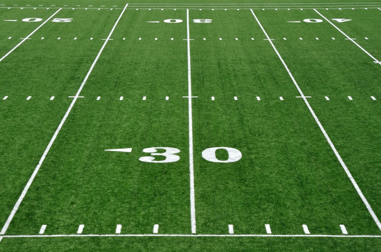 Thirty Yard Line on American Football Field
