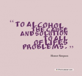 To alcohol, the cause and solution