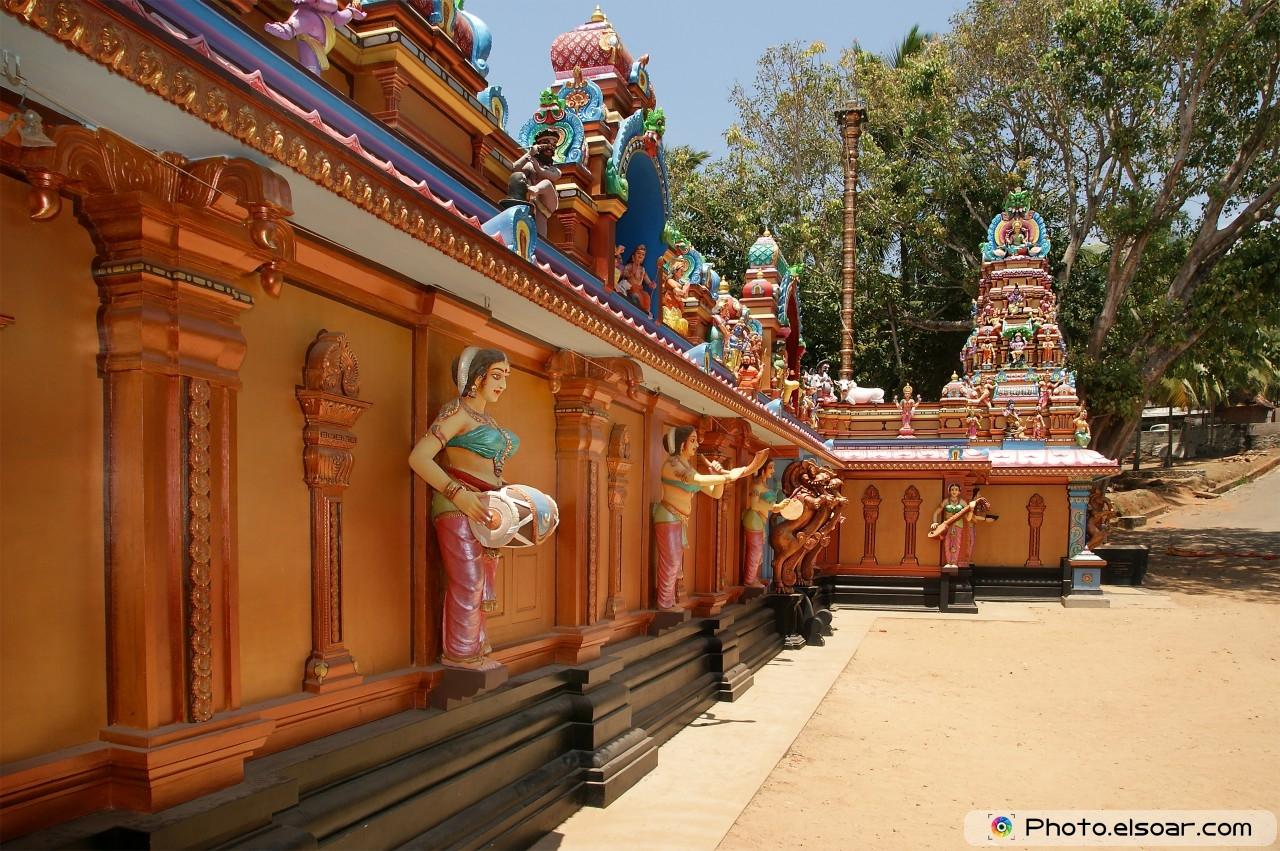 Traditional Hindu temple, South India, Kerala