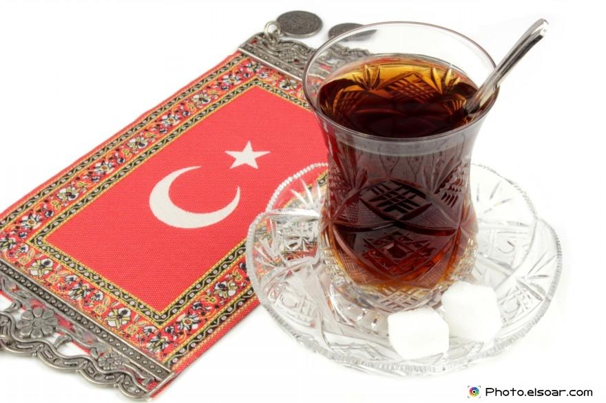 Turkish Tea With Flag