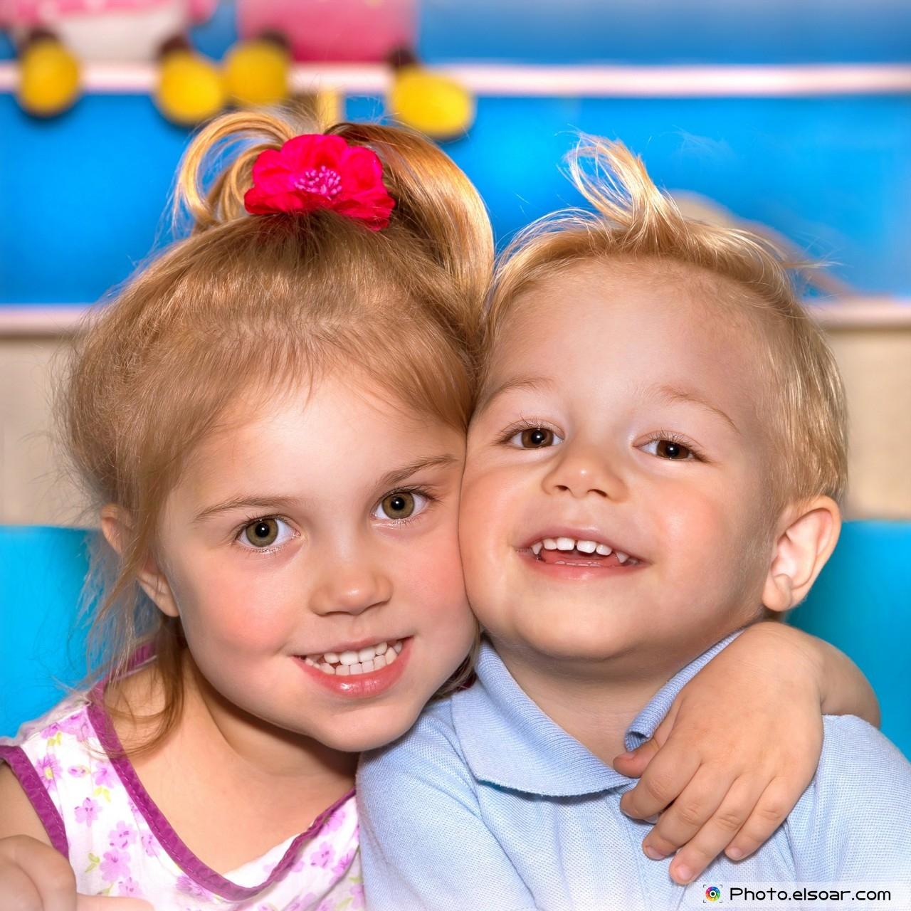 Two happy child