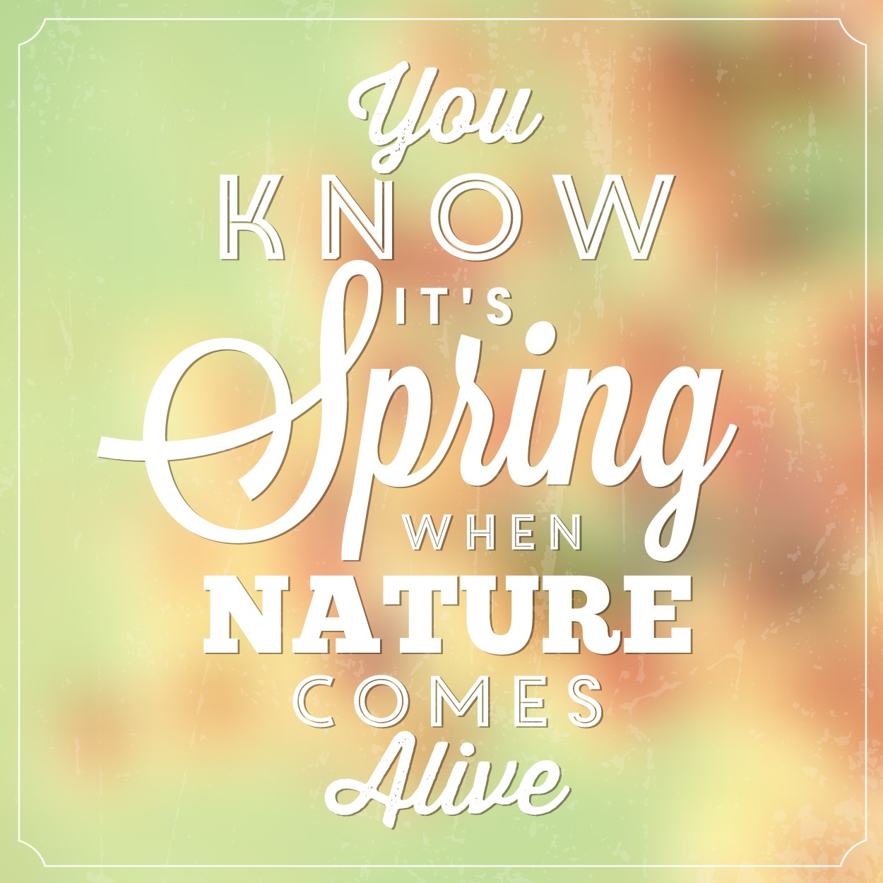 Typographic Spring Poster